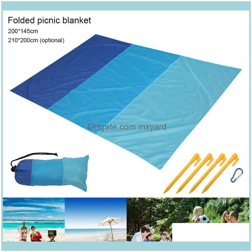 Outdoor And Hiking & Outdoorsoutdoor Pads Extra Large Waterproof Picnic Blanket Travel Beach Camping Soft Mat Sports Entertainment Drop Deli