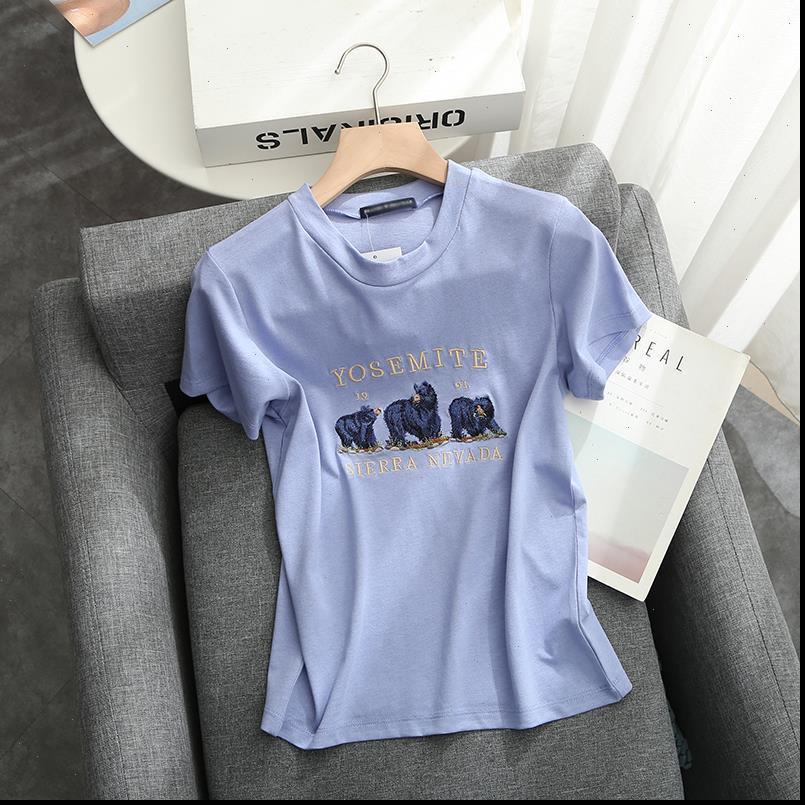 Dünne mädchen frauen shirts weiche baumwolle sommer mode damen elegante stickerei niedlich hemd lässig weibliche bombe blusen schick