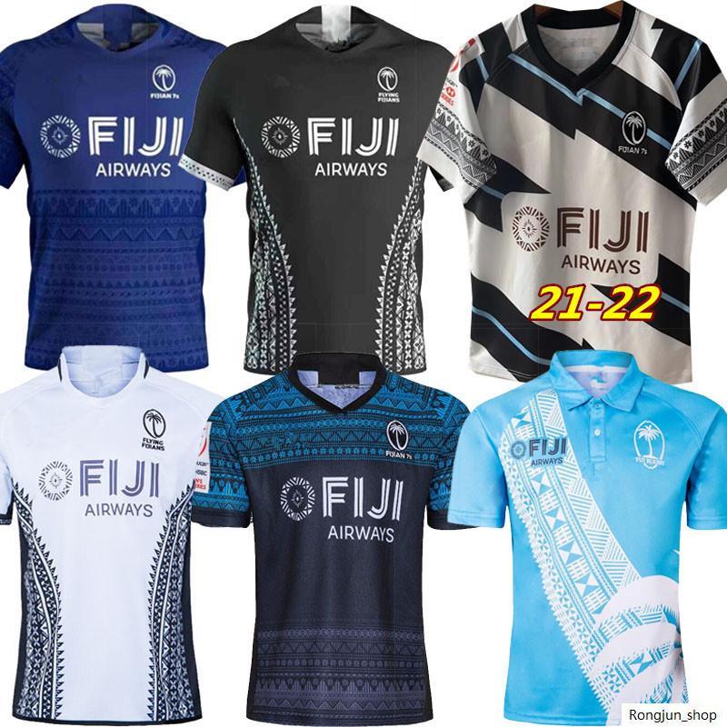 2021 Fiji Home Away Rugby Jersey Sevens Camicia Olimpica Tailandia Qualità 19 20 21 Figi Nazionale 7's Gersey di rugby