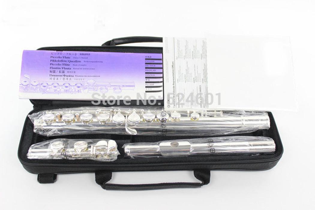 صنع في اليابان ماركة الناي الصكوك 211 SL C لحن 16 حفرة سدادة هبة الفضة مطلي الموسيقى الكلاسيكية مع القضية
