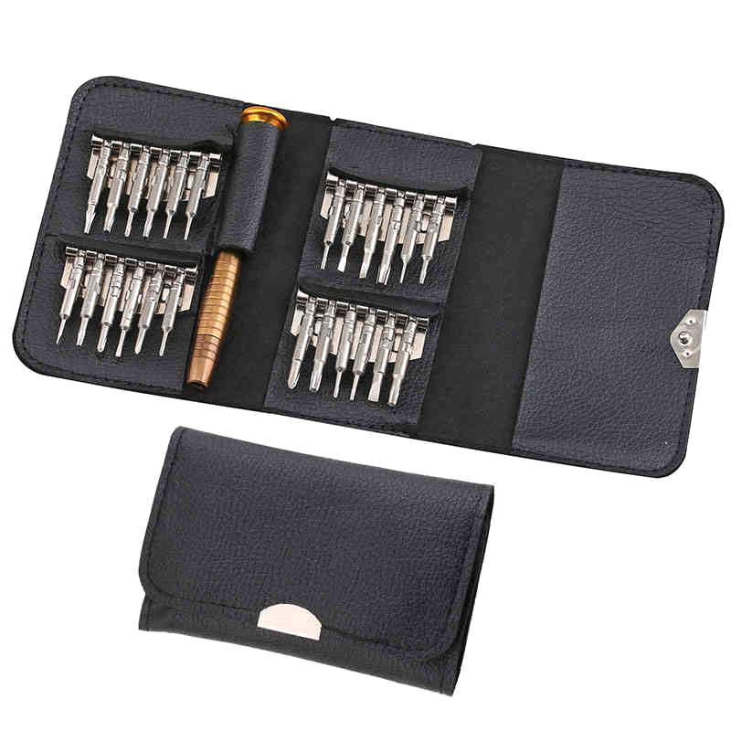 Mini Portable 25 Pcs/set Slotted And Head Screwdriver Repair Precision Tool Kit Set For Eyeglasses Laptop Watch Mobile Phone Cell Repairing