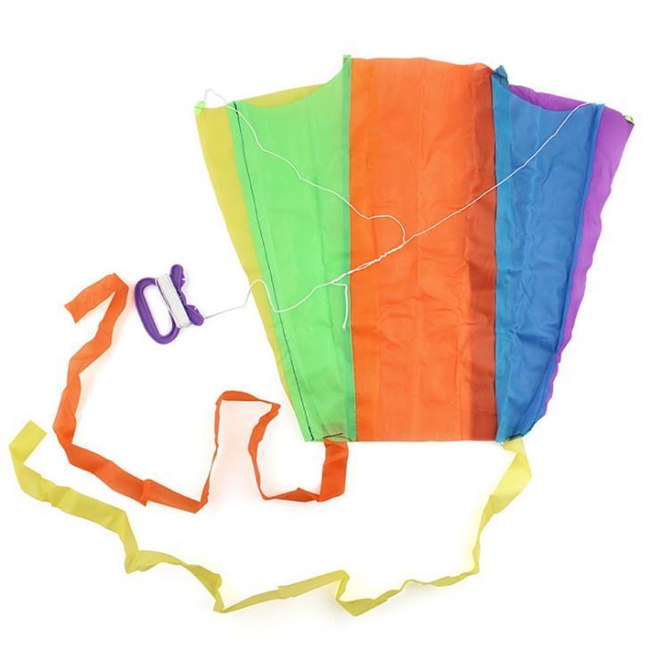 Poche pliante portable Flying Kite Kit Kid Jouet Cas de stockage Sport extérieur Enfants cadeau Multicolore Single Petits Kites CCF5529