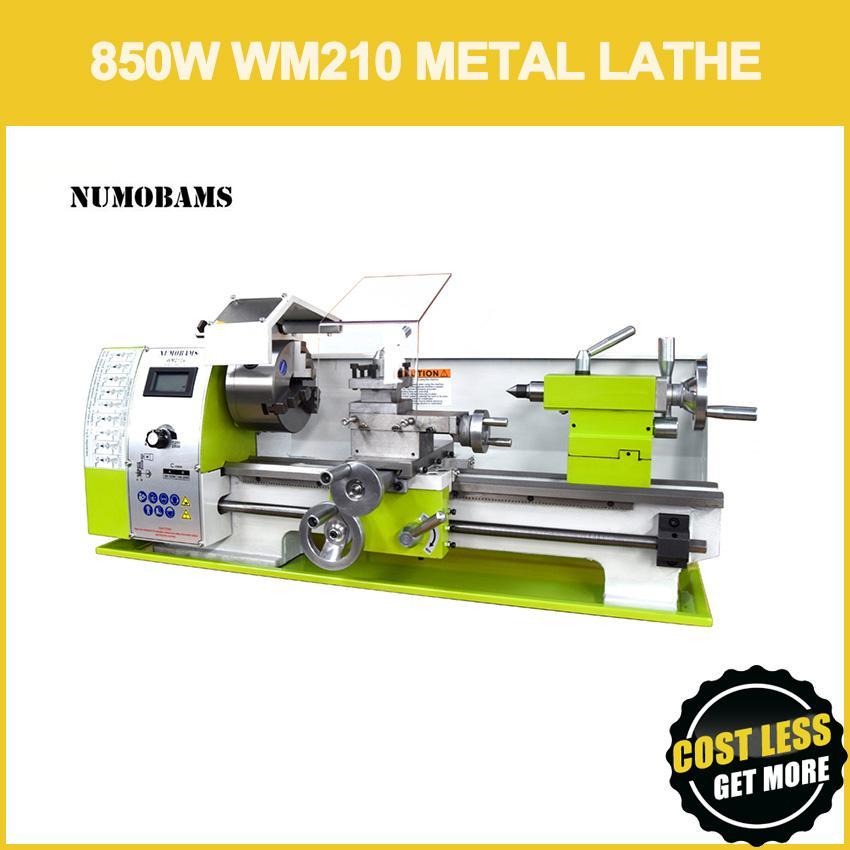 Numbams WM210V 850W فرش مخرطة مخرطة آلة الصناعية 125mm تشاك 38 ملليمتر حفرة المغزل