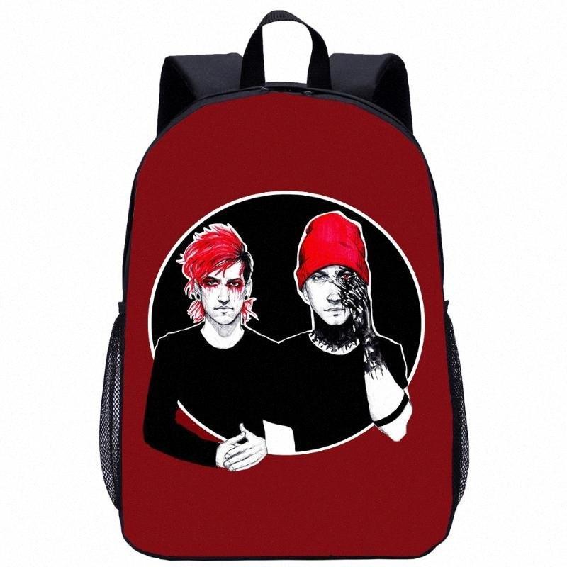 Moda Veintiún Pilotos Bolsa de mochila para adolescentes Chicas Chicas Cool Bagpack Viaje Mochila Mochila Niños Regalo de los niños O97G #