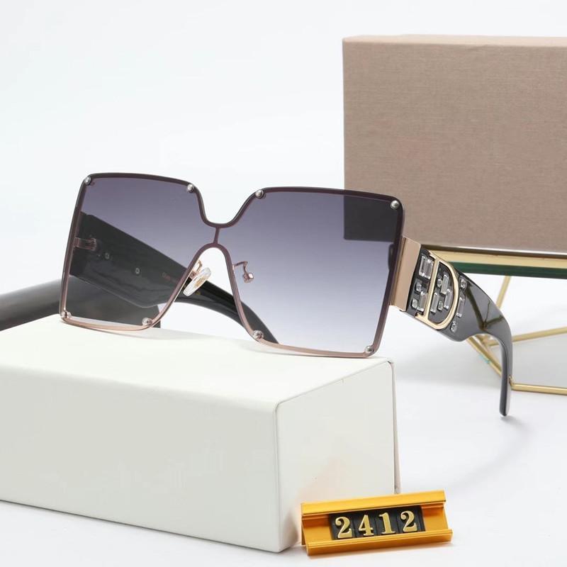 2021 Classic Design Brand Sunglasses UV400 Eyewear Metal Gold Frame Glasses Men Women Mirror glass Lens Sunglass