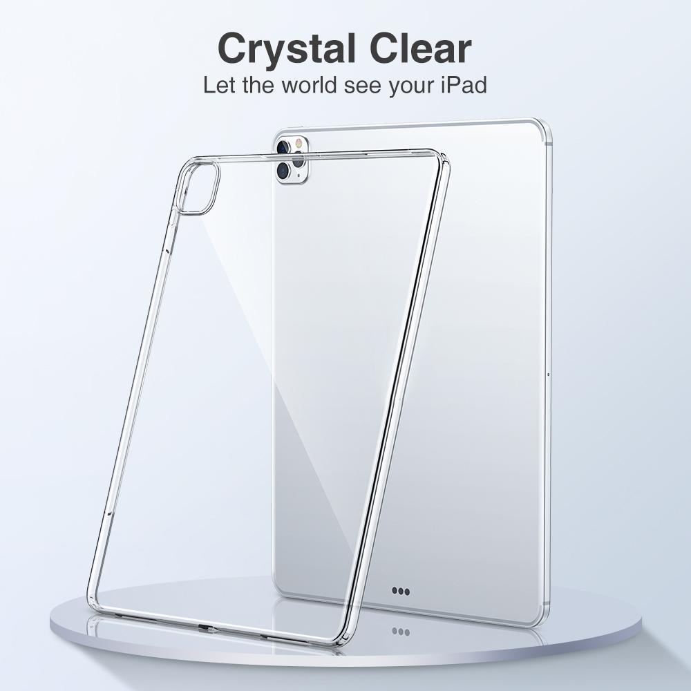 Ультратонкие тонкие защитные задние чехлы силиконовые кристалл прозрачный прозрачный мягкий TPU крышка для iPad 9.7 2 3 4 5 6 7 8 10.2 Air Air4 10,9 PRO 10,5 11 12,9 дюйма мини