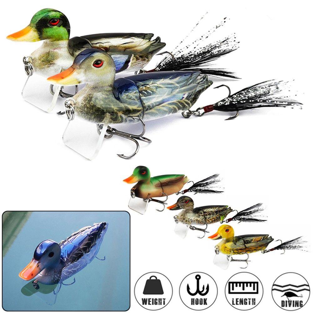 بطة لينة الصيد إغراء 7 سنتيمتر 10 جرام أعلى مياه 3d محاكاة العائمة baits باس