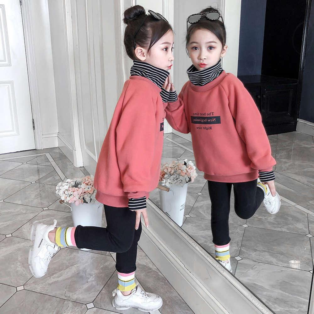 Enfants Clothessweater Vêtements d'hiver des filles Peluche Col polyvalent pour enfants coréen enfants