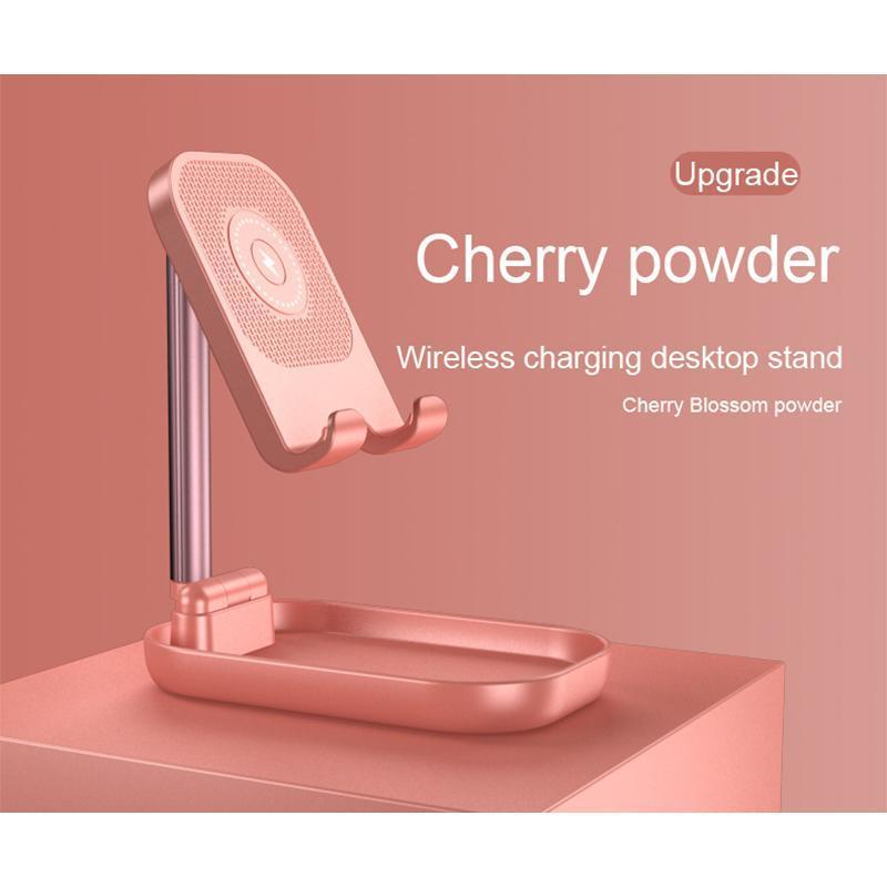 Telefono Desktop Attrezzature per la ricarica Caricabatterie wireless Stand Pieghevole regolabile Supporto 2 in 1 supporti per celle