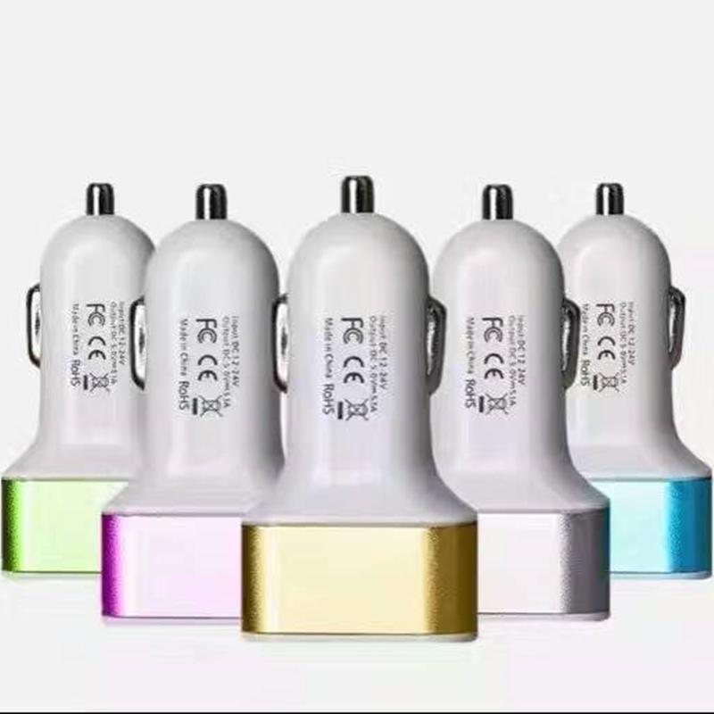 Syytech 3 التوصيل USB شحن سيارة شواحن لملحقات الهاتف الخليوي