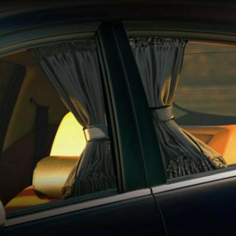 PCS سيارة مضادة للأشعة فوق البنفسجية نافذة الجانب شمس الستار الظل السيارات الخلفية الزجاج الأمامي كتلة لمعظم السيارات suv أشعة الشمس
