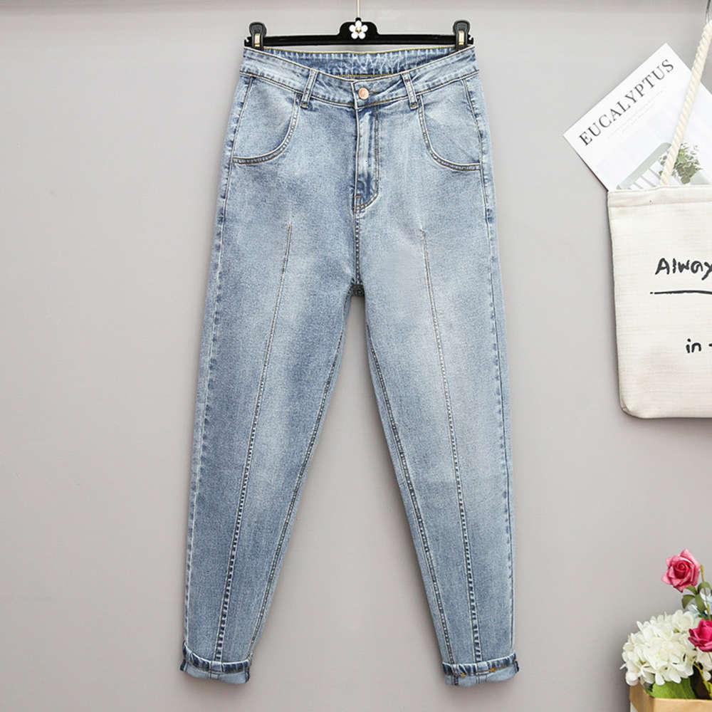 Джинсы большие летние и осенние женские свободные брюки гарема редьки мм 9 очков добавить жир 200 джин