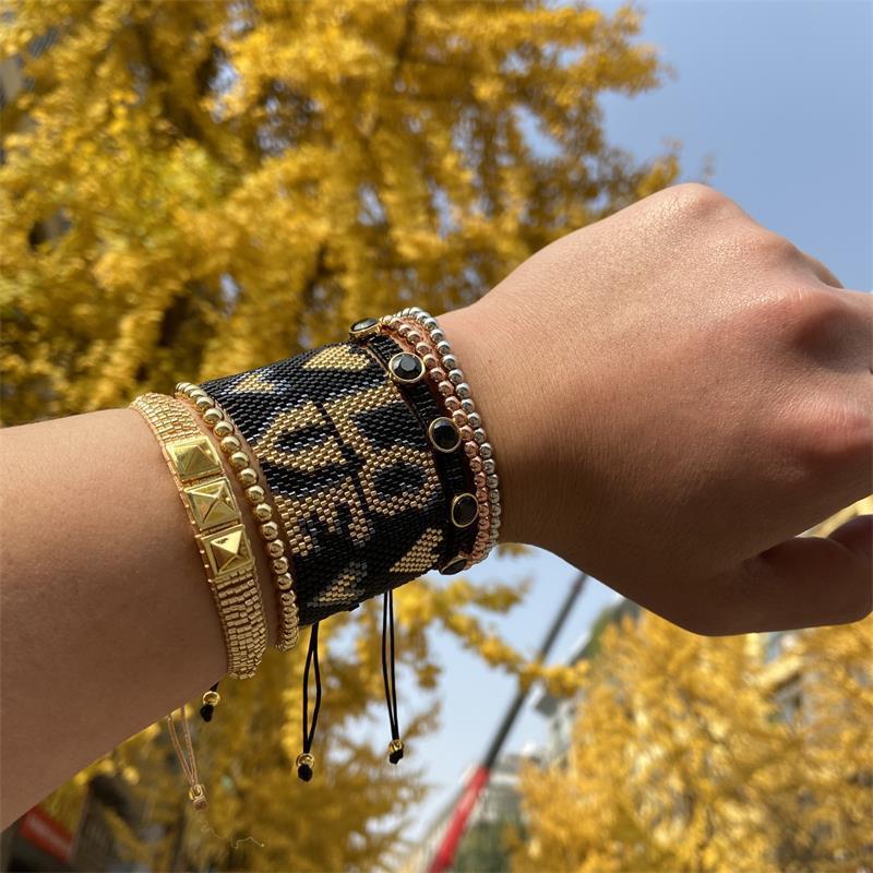 Miyuki Amicizia Braccialetti regalo per ragazza Pulseras Bracciale Braccialetto Braccialetto da donna perline gioielli alla moda cuore colorato gioielli in rilievo, fili