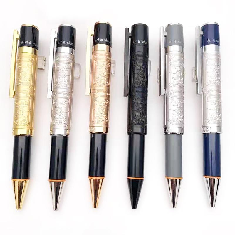 Luxus-Stifte Limited Special Edition Andy Warhol Reliefs Barrel Metall Kugelschreiber Schreibbüro School Supplies Hohe Qualität Pen @ yama