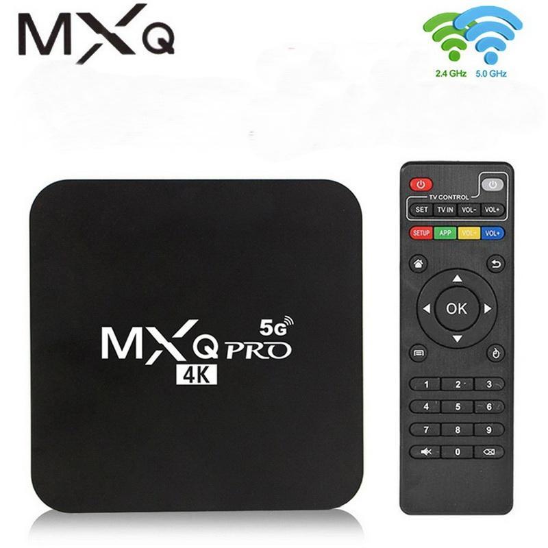 MXQ Pro 5G Wifi TV Box رباعية النواة Android 10 Smart TVBox 1GB 8GB Media Player أرخص من X96Q