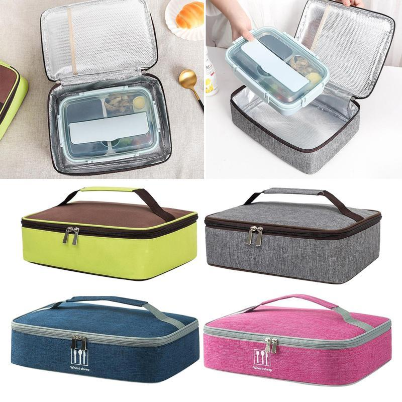 Storage Bags Portable Lunch Insulated Cool Tote Bag For Men Women Work School Travel