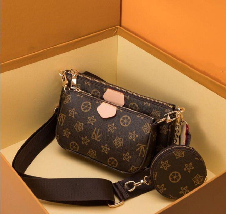 Top Quality 3 pcs/set women Shoulder Bags favorite multi pochette accessories Crossbody Purse Messenger Handbags Flower designer lady Leather With Box and Dust bag