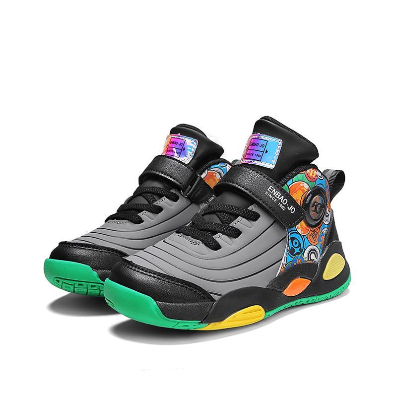 Basketballschuhe für Kinder Jungen Atmungsaktive Sneaker Outdoor-Schuhgröße 4 bis 13,5 12 Jahre alt