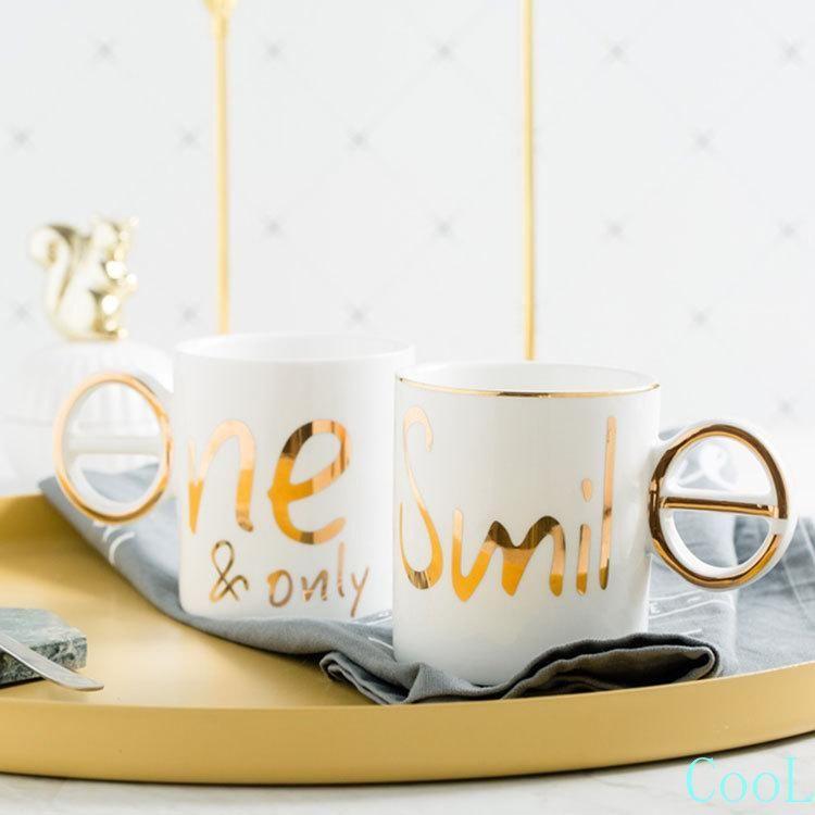 1 ADET Yaratıcı 3D Aşk Simile Mektup Seramik Kahve Kupa Porselen Kupası Su Çay Için Düğün Yıldönümü Hediye Kupalar