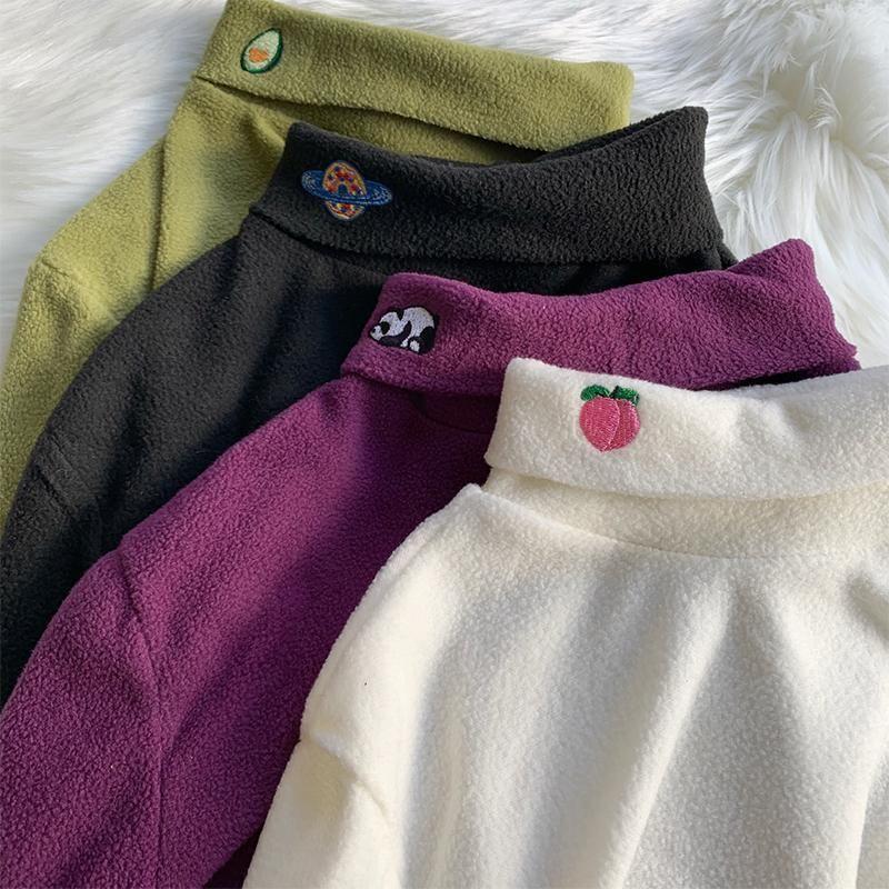 Alto QUMULITY Femenino Tops Primavera Otoño 2021 Camisetas para mujer Half Turtleneck Mujer Simple Longsleeve para mujeres Ropa ZJT2341