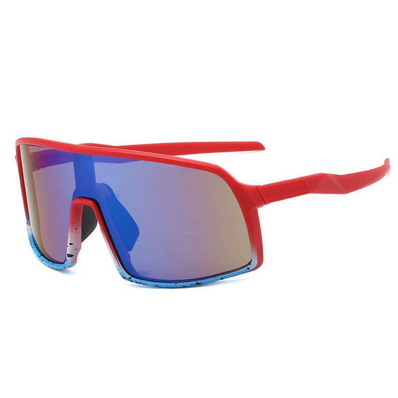 11 Farben Bunte Radsportbrille Männer Trend Einteilige Sonnenbrille Europa und Amerika Outdoor Sportsbrillen Spiegellinsen