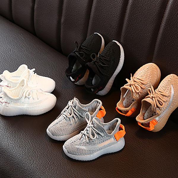 Çocuklar Sneakers Hiphop Eğlence-Ayakkabı Erkek Kız Gençler Için Bebek Aktif Nefes Koşu Ayakkabıları EUR 22-31 Çocuk Rahat Ayakkabı Açık Atletik Yürüyüş Ayakkabı Sevimli Moda