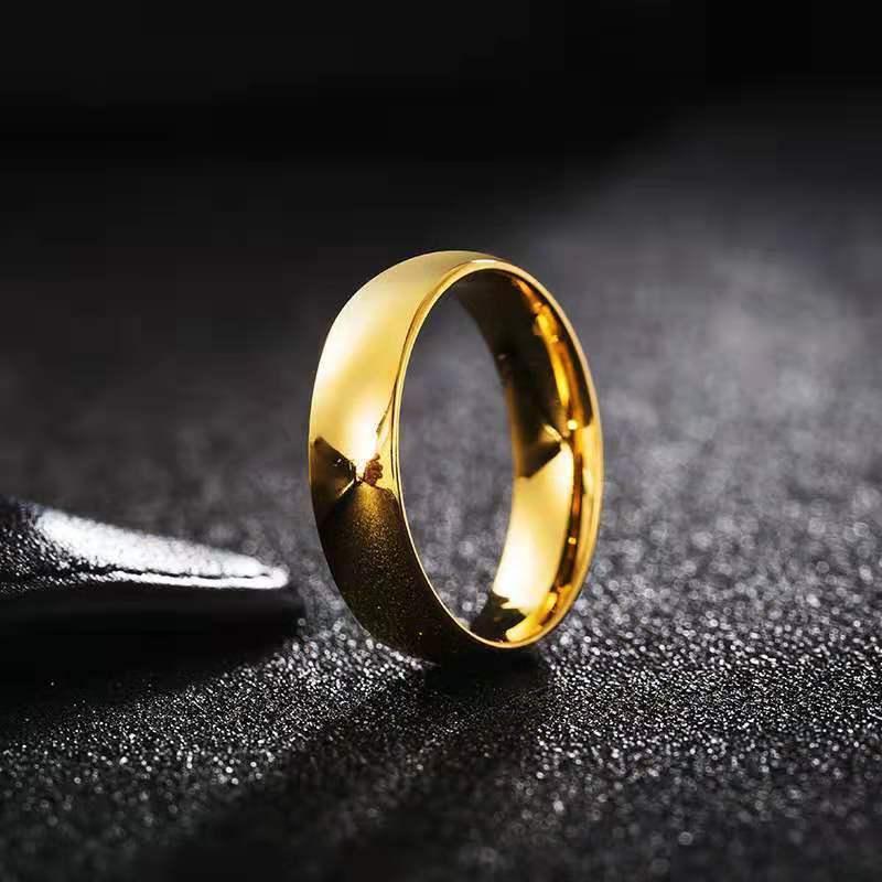 모방 쌍곡선 반지는 남성과 여성을위한 금 도금