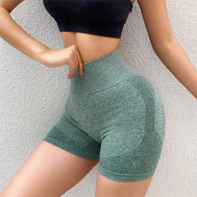 Fitness High Waist Leggings Belly Breathable Stretch Peach Fruit hip Lightweight and Quick-drying Yoga Women Booty Shorts