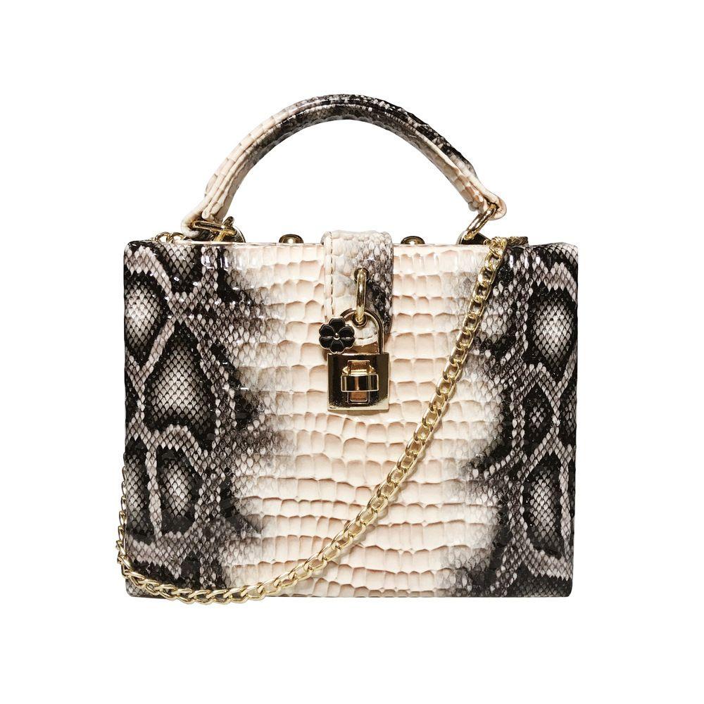 Women Flap Serpentine Luxury Concave Convex Python Square Leather Suitcase Fashion Style Queen Lady Shopper Bag C0326