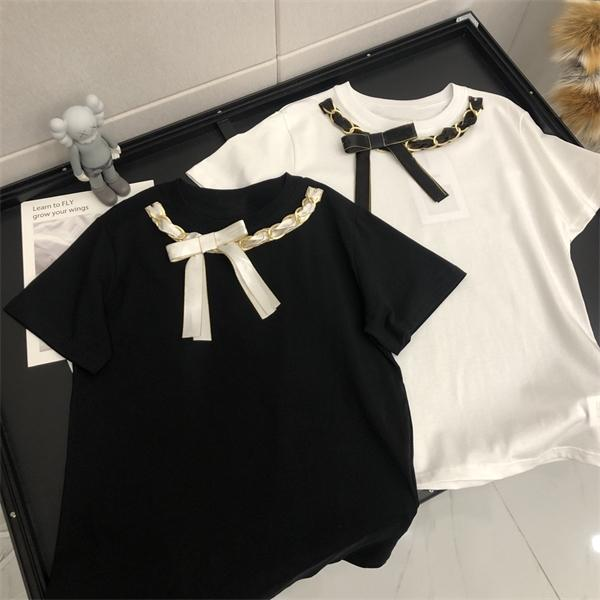 Summer new trendy brand ladies T-shirt pure cotton short-sleeved fabric comfortable and fashionable all-match8q