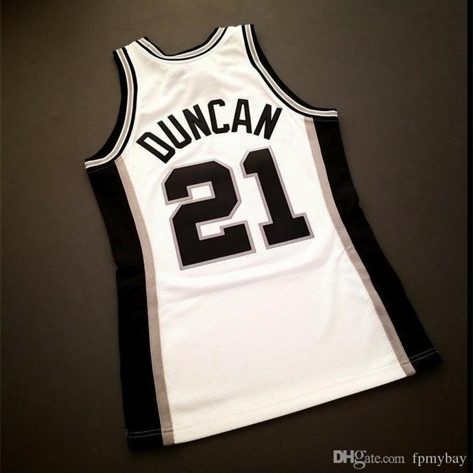 Özel Bay Gençlik Kadın Vintage Tim Duncan Mitchell Ness 1999 Koleji Basketbol Forması Boyutu S-4XL veya Özel Herhangi Bir Adı veya Sayı Forması