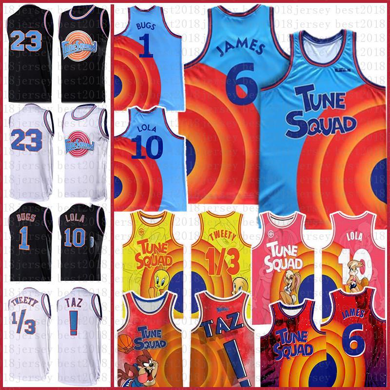 Lebron 6 James Space Tune 2 Squad Film Basketbol Forması 23 2021 7 R.Runner 1 Hata 10 Lola! TAZ 1/3 Tweety 2 D.Duck Formalar NCAA