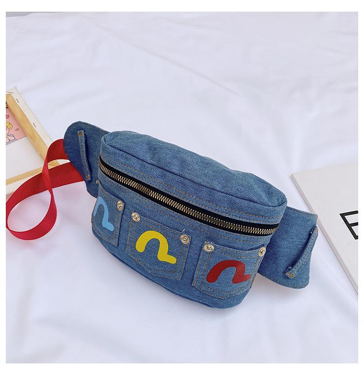 Fanny Bag della vita del bambino Vita della cintura carina borsa della cintura della ragazza della ragazza di modo del petto di modo del petto di applique del ragazzo del pacchetto del ragazzo dei soldi della borsa dei soldi per i bambini Vovjo