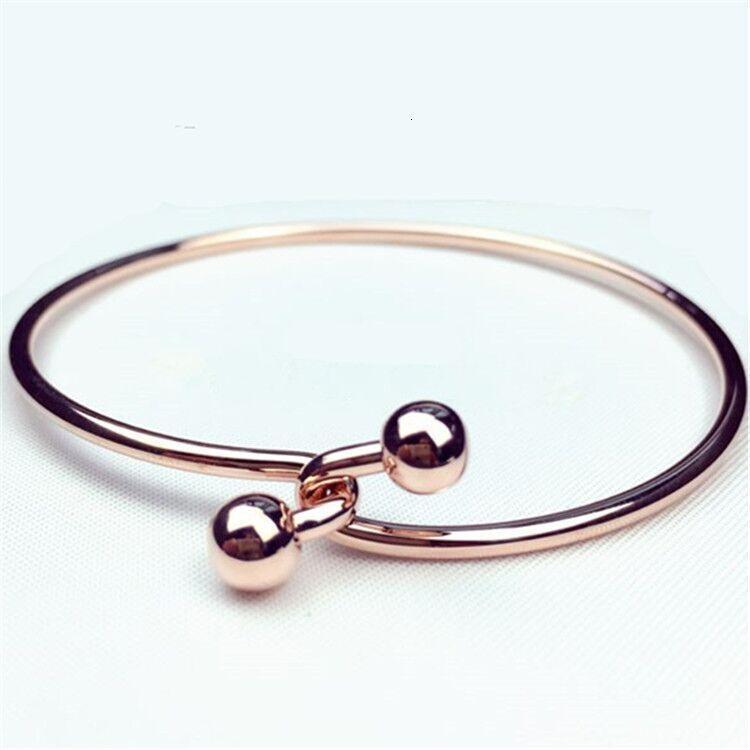 Charm Bracelets S26 Coreano largo Exquisito Zircon Oro Moda Versátil Bracélequ67D53
