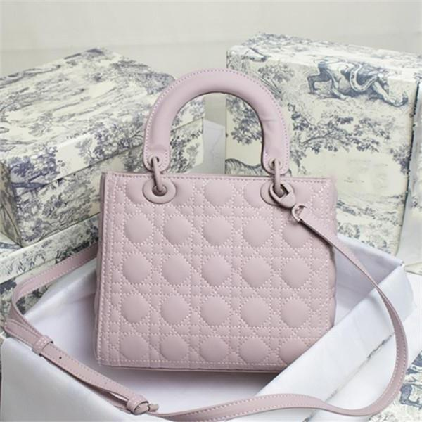 Dior classic must-have lady elegant bags fashionable shoulder diamond lattice handbags genuine leather women multicolor totes crossbody bag Mini M L size