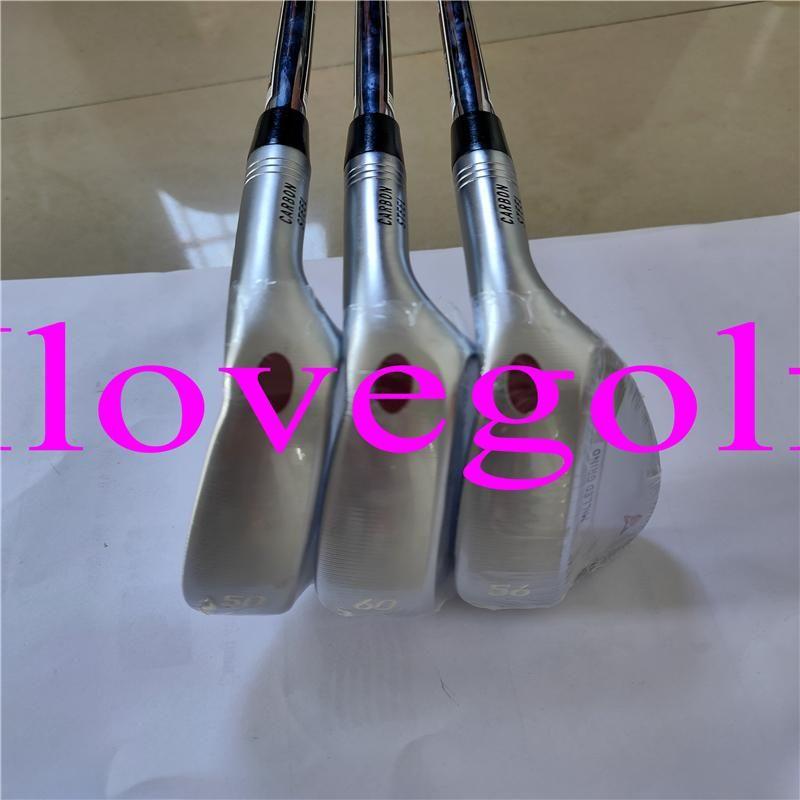 Komple Kulüpler Silve Frezeleli Öğütülmüş Kama Golf Takozları 50/52/54/56/58/60 Düzenli / Sert Çelik / Grafit Şaftları DHL