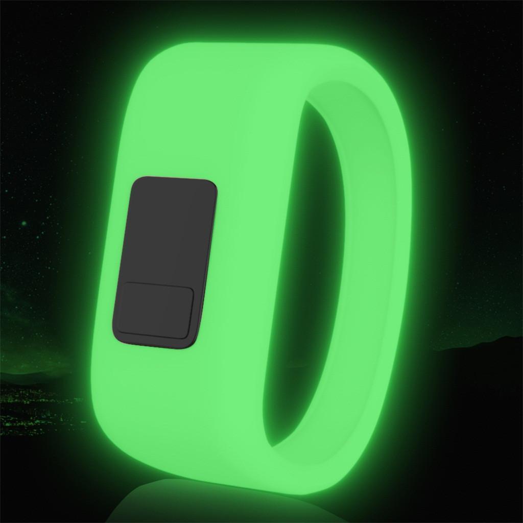 Cinghia da polso da polso fluorescente Sport cinghie luminose scure per Garmin Vivofit 3 JR JR2 Band Sostituzione della banda di ricambio per cinturini in silicone