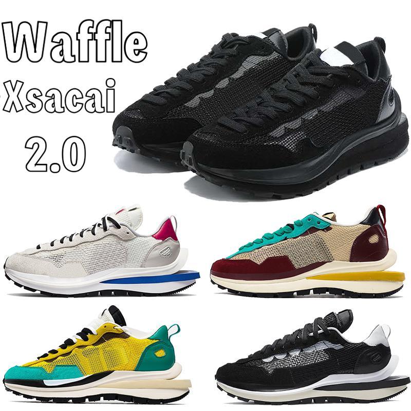 Gaufle Xsacai 2.0 Hommes Chaussures de course Triple Noir Blanc Smoke Grey Sport Fuchsia jeu Royal Hommes Sneakers Formateurs US 7-11