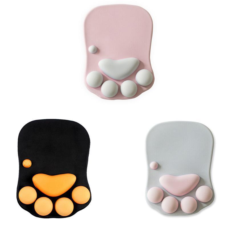 Souris Pads Poignet Reste antidérapant 3D mignon mignon anime chat souple avec support de repos confort silicon mousse mousepad mousepad mat