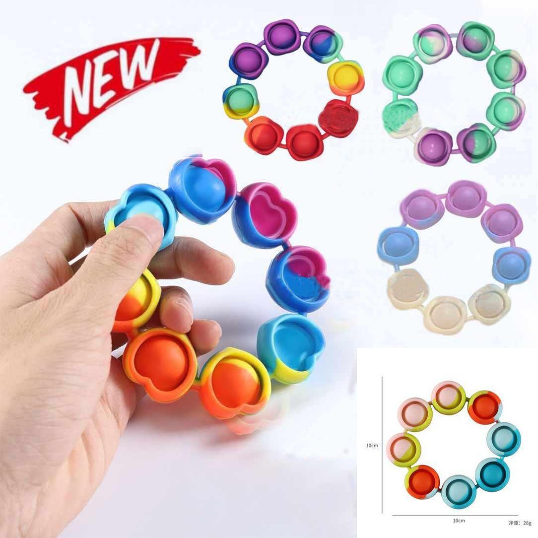 Großhandel 2022 Push Blase Blase Zappeln Spielzeug Sensorische Ringarmbänder Puzzle Presse Fingerblasen Stress Armband Armband