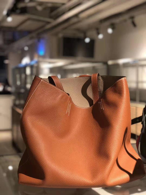Große Größe Mode Taschen Zweiseitige Frauen Handtasche Totes Ganze Tasche Echtes Echtes Leder Super Soft Umhängetaschen Dame Top Qualität