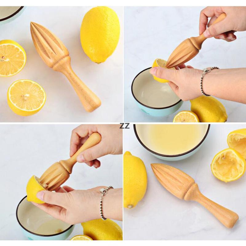 Beech Lemon Juicer Tools Manually Wooden Squeezer Orange Citrus Juice Reamer Without Lacquer Wax Household Kitchen Tool 16*3.5CM HWF8866