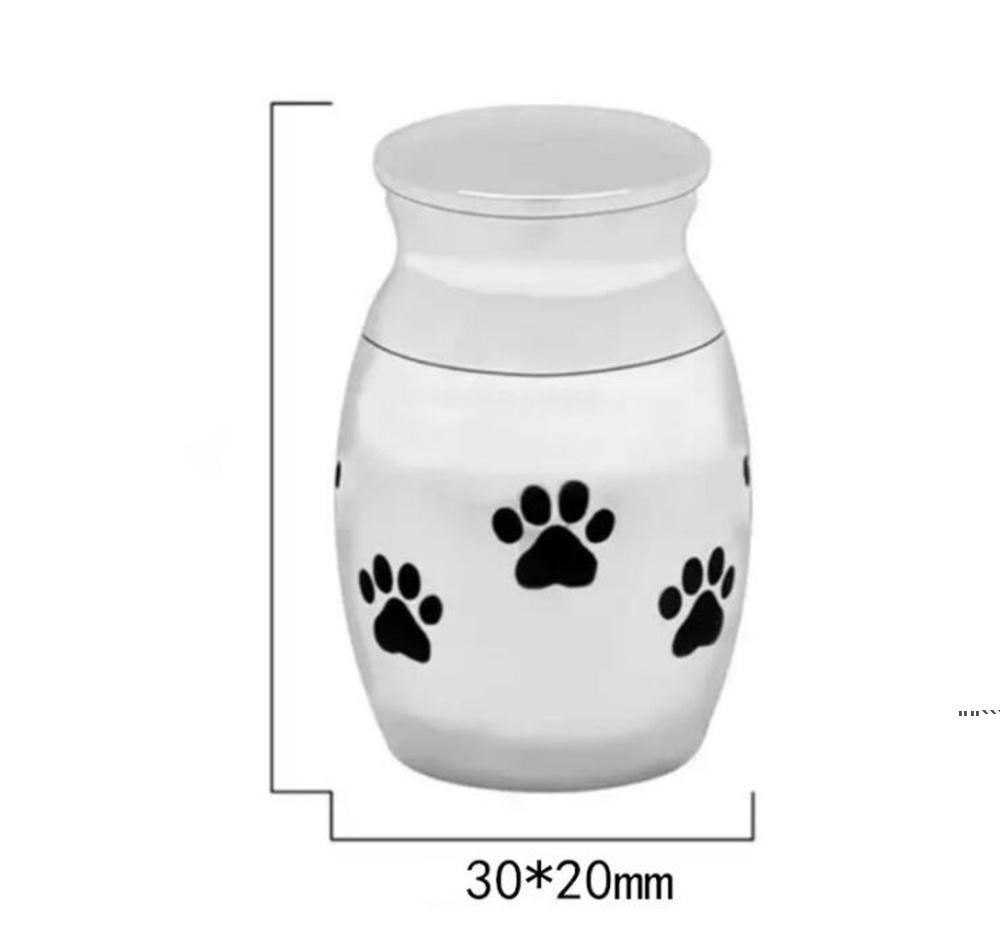 Cat Carriers Cadras Casas pequenas Urnas de Cremação para Cinzas de Pet Mini Mancha de Aço Inoxidável Memorial Urnas Cães Titular Dwe6284