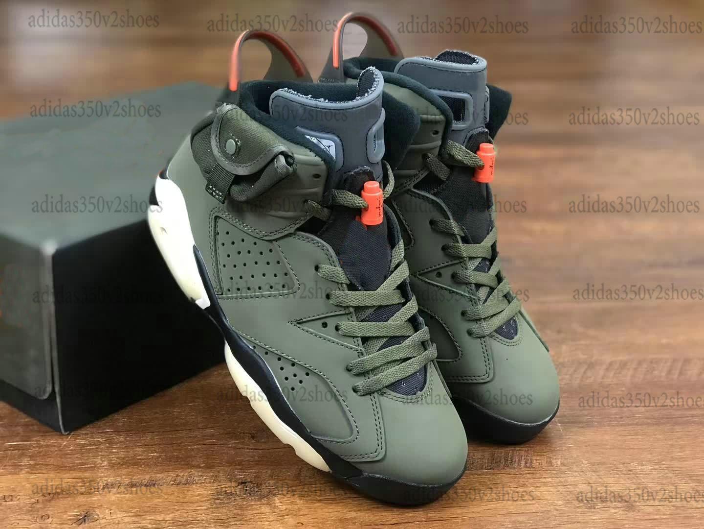 Travis Scott X 6 VI Retros Olive Gold Bagger Basketball Designer Schuhe 6s Kaktus Jack Glow Trainer Sport Sneakers