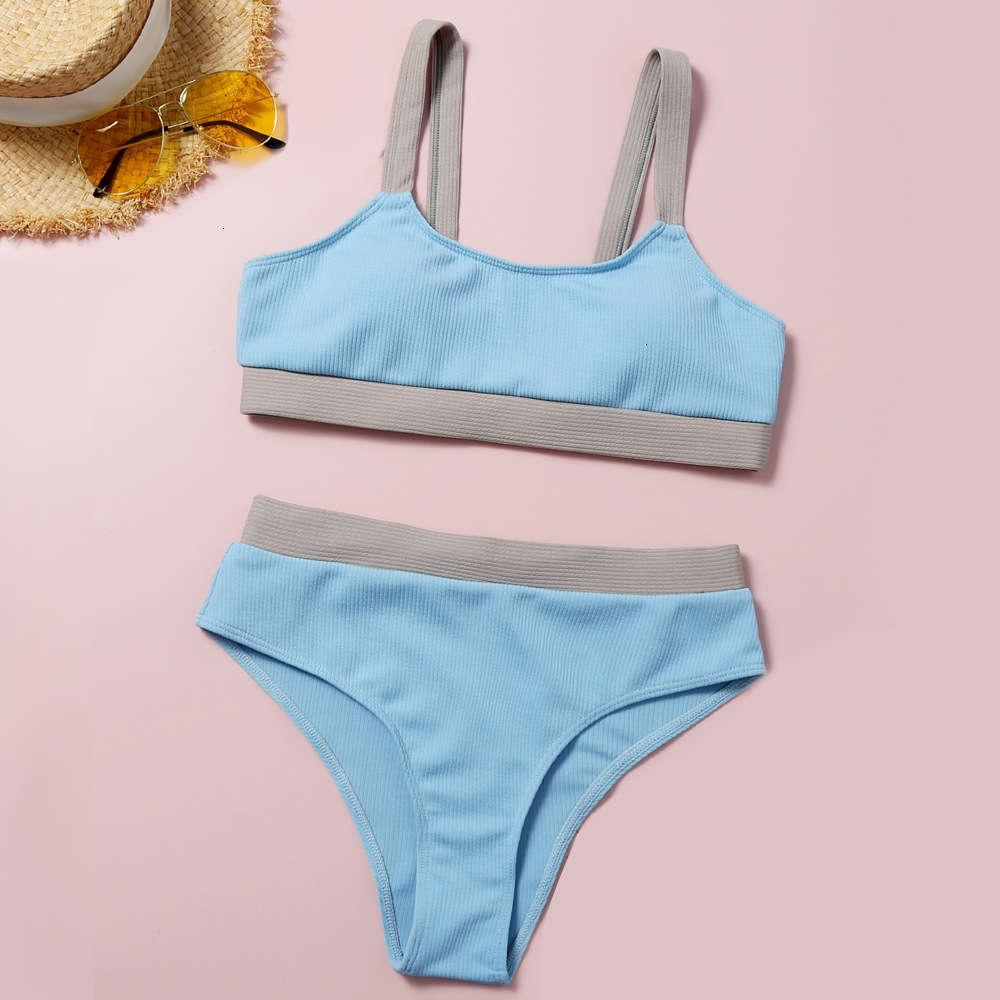 Feminina Sexy Bikini Strap New Split Swimsuit