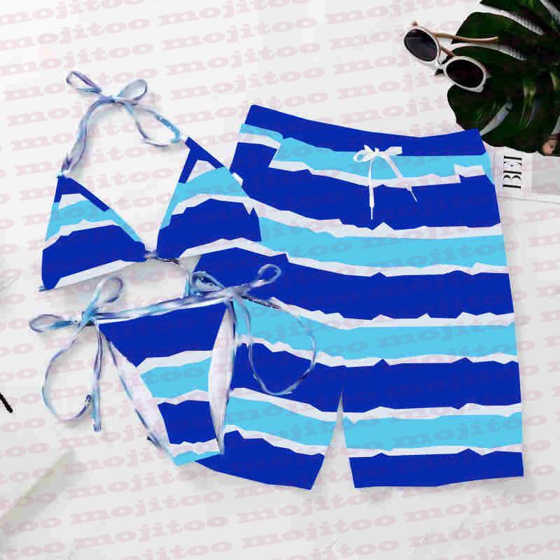 الصيف ملابس السباحة مصمم ماركة عشاق المايوه النسيج مثير الرسن إمرأة البيكينيات مجموعة شورت رجالي عارضة