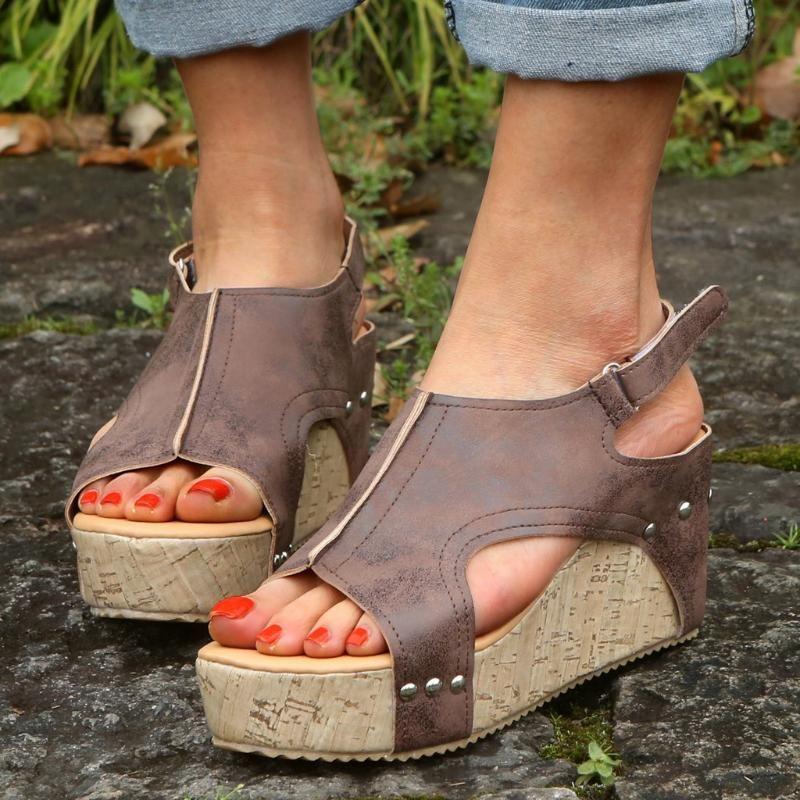 Женские сандалии плюс размер клинья обувь платформа лето 2021 FlipFlop Chaussures Femme платформа Sandalia Black