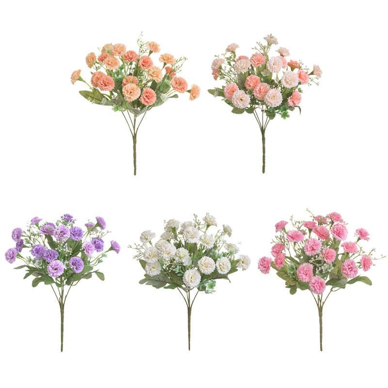 Dekorative Blumen Kränze 1 stücke Künstliche Simulation Hortensie Gefälschte 20 Köpfe Seidenblume Nelke Home Party Garten Kleine Flieder