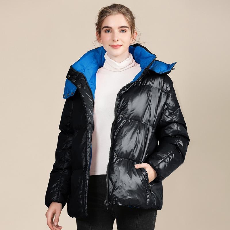 Chaqueta de mujer libre 2021 diseñadores Mujeres abrigos ropa lado grueso envío invierno brillante abrigo con capucha wmibj