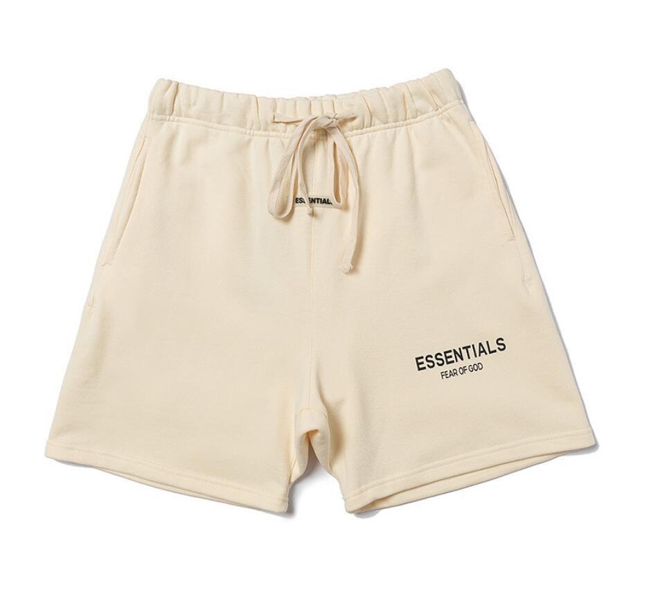 Nevoeiro Medo de deus Essentials Shorts Fitness Masculino de Secagem rápida Marca Marca de cinco pontos calças de praia casual suorshorts Hip Hop Streetwear